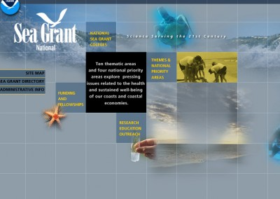 NOAA Sea Grant, web design