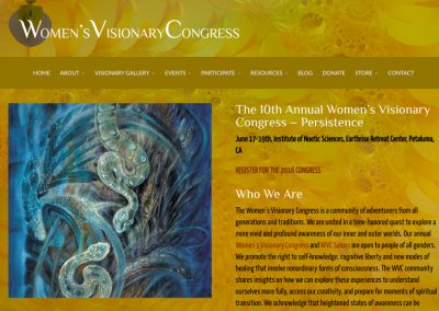 Women's Visionary Congress Website